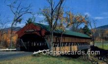 cou100351 - Jackson, White Mountains, NH USA Covered Bridge Postcard Post Card Old Vintage Antique
