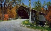 cou100352 - Sandwich, NH USA Covered Bridge Postcard Post Card Old Vintage Antique