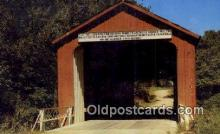 cou100353 - Princeton, IL USA Covered Bridge Postcard Post Card Old Vintage Antique