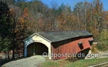 cou100355 - Narrows, Parke Co, IN USA Covered Bridge Postcard Post Card Old Vintage Antique