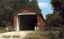 cou100357 - Princeton, IL USA Covered Bridge Postcard Post Card Old Vintage Antique