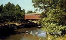 cou100359 - Narrows, Turkey Run State Park, IN USA Covered Bridge Postcard Post Card Old Vintage Antique