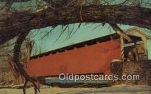cou100360 - Leaman Place, Dutch Co, PA USA Covered Bridge Postcard Post Card Old Vintage Antique