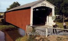 cou100364 - Dutch Country, PA USA Covered Bridge Postcard Post Card Old Vintage Antique