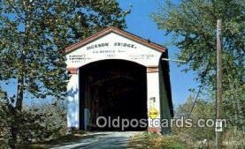 cou100365 - Jackson, Parke Co, IN USA Covered Bridge Postcard Post Card Old Vintage Antique