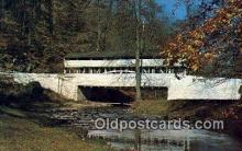 cou100367 - Valley Forge, PA USA Covered Bridge Postcard Post Card Old Vintage Antique
