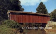 cou100368 - Dutch Country, PA USA Covered Bridge Postcard Post Card Old Vintage Antique