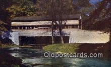 cou100369 - Valley Forge, PA USA Covered Bridge Postcard Post Card Old Vintage Antique
