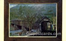 cou100372 - Long, Charlemont, MA USA Covered Bridge Postcard Post Card Old Vintage Antique