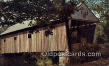 cou100375 - Lovejoy, South Andover, ME USA Covered Bridge Postcard Post Card Old Vintage Antique