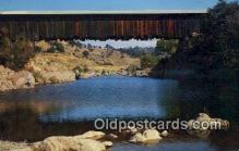 cou100376 - Knights Ferry, CA USA Covered Bridge Postcard Post Card Old Vintage Antique