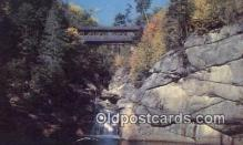 cou100377 - The Pool & Sentinel Pine, Franconia Notch, NH USA Covered Bridge Postcard Post Card Old Vintage Antique