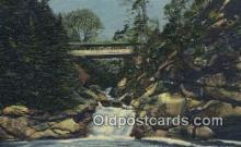 cou100379 - The Pool & Sentinel Pine, Franconia Notch, NH USA Covered Bridge Postcard Post Card Old Vintage Antique