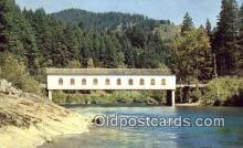 cou100382 - Eugene, OR USA Covered Bridge Postcard Post Card Old Vintage Antique