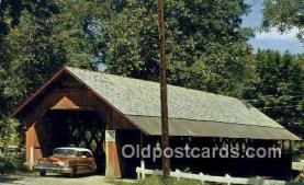 cou100384 - Brattleboro, VT USA Covered Bridge Postcard Post Card Old Vintage Antique