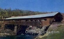 cou100385 - Taftsville, VT USA Covered Bridge Postcard Post Card Old Vintage Antique