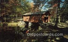 cou100386 - Devils Hopyard State Park, East Haddam, CT USA Covered Bridge Postcard Post Card Old Vintage Antique