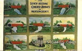 cou100387 - Hogback, Madison Co, USA Covered Bridge Postcard Post Card Old Vintage Antique