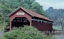 cou100388 - Kings, New Lexington, PA USA Covered Bridge Postcard Post Card Old Vintage Antique