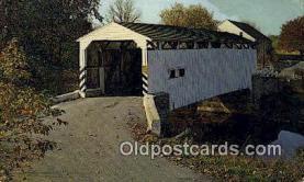 cou100391 - Keller's Mill, PAUSA Covered Bridge Postcard Post Card Old Vintage Antique