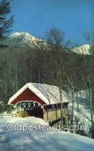 cou100393 - Flume, Franconia Notch, NH USA Covered Bridge Postcard Post Card Old Vintage Antique