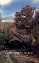 cou100394 - Franconia Notch, NH USA Covered Bridge Postcard Post Card Old Vintage Antique