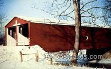 cou100396 - Double Barreled, Preble Co, OH USA Covered Bridge Postcard Post Card Old Vintage Antique