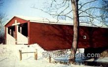 cou100397 - Double Barreled, Preble Co, OH USA Covered Bridge Postcard Post Card Old Vintage Antique