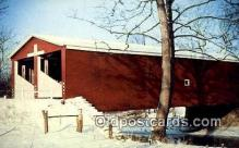 cou100398 - Double Barreled, Preble Co, OH USA Covered Bridge Postcard Post Card Old Vintage Antique