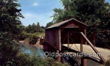 cou100399 - Kissing Bridge, IA USA Covered Bridge Postcard Post Card Old Vintage Antique