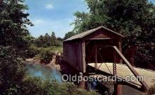 cou100400 - Kissing Bridge, IA USA Covered Bridge Postcard Post Card Old Vintage Antique
