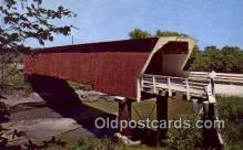 cou100402 - Holliwell, Winterset, IA USA Covered Bridge Postcard Post Card Old Vintage Antique