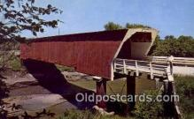 cou100403 - Holliwell, Winterset, IA USA Covered Bridge Postcard Post Card Old Vintage Antique
