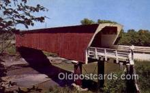 cou100404 - Holliwell, Winterset, IA USA Covered Bridge Postcard Post Card Old Vintage Antique