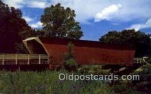 cou100405 - Winterset, IA USA Covered Bridge Postcard Post Card Old Vintage Antique