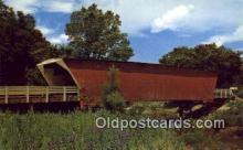 cou100406 - Winterset, IA USA Covered Bridge Postcard Post Card Old Vintage Antique