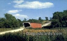 cou100408 - Kissing Bridge, IA USA Covered Bridge Postcard Post Card Old Vintage Antique