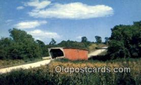 cou100409 - Kissing Bridge, IA USA Covered Bridge Postcard Post Card Old Vintage Antique