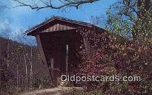 cou100410 - Sautee Creek, Helen, GA USA Covered Bridge Postcard Post Card Old Vintage Antique