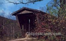 cou100411 - Sautee Creek, Helen, GA USA Covered Bridge Postcard Post Card Old Vintage Antique