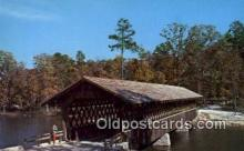 cou100412 - Stone Mtn Memorial Park, Stone Mt, GA USA Covered Bridge Postcard Post Card Old Vintage Antique