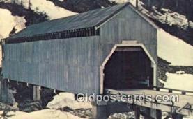 cou100415 - Texas Creek, Hyder, S.E. Alaska Covered Bridge Postcard Post Card Old Vintage Antique