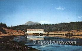 cou100418 - Afognak Island, Alaska Covered Bridge Postcard Post Card Old Vintage Antique