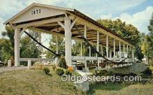 cou100419 - Germantown, OH USA Covered Bridge Postcard Post Card Old Vintage Antique