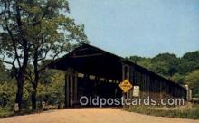 cou100429 - Harpersfield, OH USA Covered Bridge Postcard Post Card Old Vintage Antique