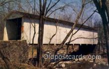cou100434 - Green Sergeant, Henterdon Co, NJ USA Covered Bridge Postcard Post Card Old Vintage Antique