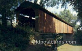cou100436 - Sedalia, MO USA Covered Bridge Postcard Post Card Old Vintage Antique