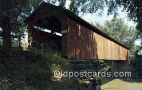 cou100437 - Sedalia, MO USA Covered Bridge Postcard Post Card Old Vintage Antique