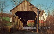 cou100438 - Conway, Conway, MA USA Covered Bridge Postcard Post Card Old Vintage Antique