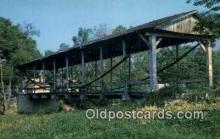 cou100440 - Montgomery Co, Germantown, OH USA Covered Bridge Postcard Post Card Old Vintage Antique